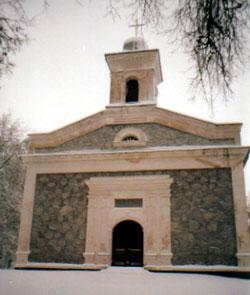 Latvian church near Akmenė