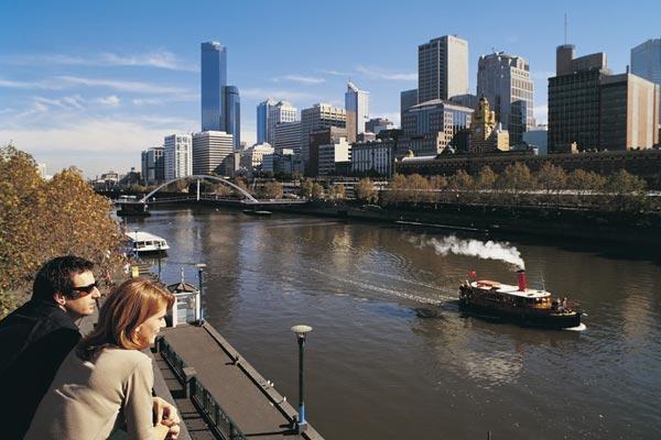 Melbourne skyline and Yarra River