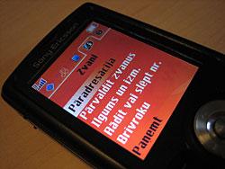 Sony Ericsson mobile telephone