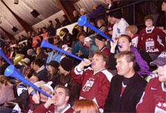 Hockey fans at Toronto Majors game