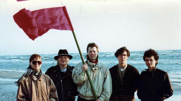 Akacis on the beach in Latvia